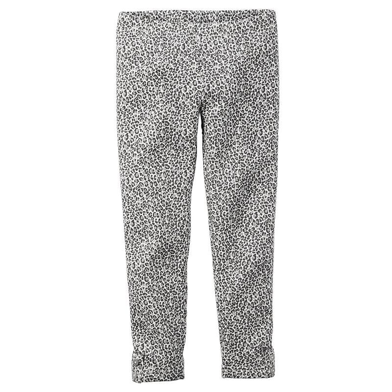 Carter's Fleece-Lined Cheetah-Print Leggings - Toddler Girl