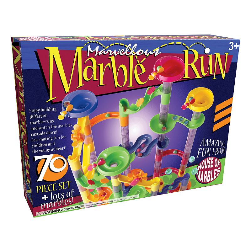 Marvellous Marble Run 70-pc. Set by House of Marbles