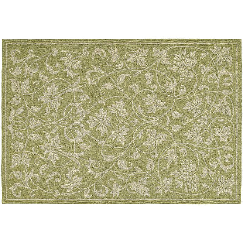 Kaleen Home and Porch Presley Leaf Indoor Outdoor Rug