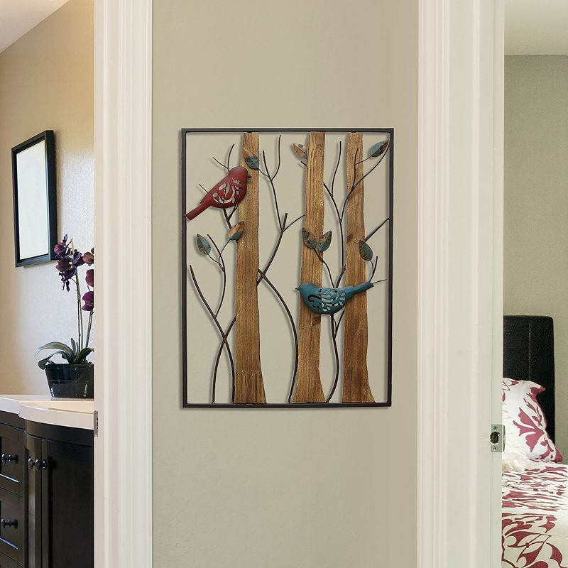 Stratton Home Decor Bird & Trees Wall Decor