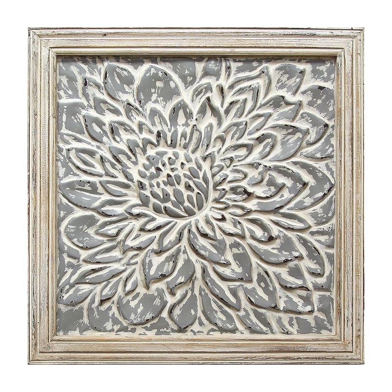 Stratton Home Decor Embossed Floral Wall Decor