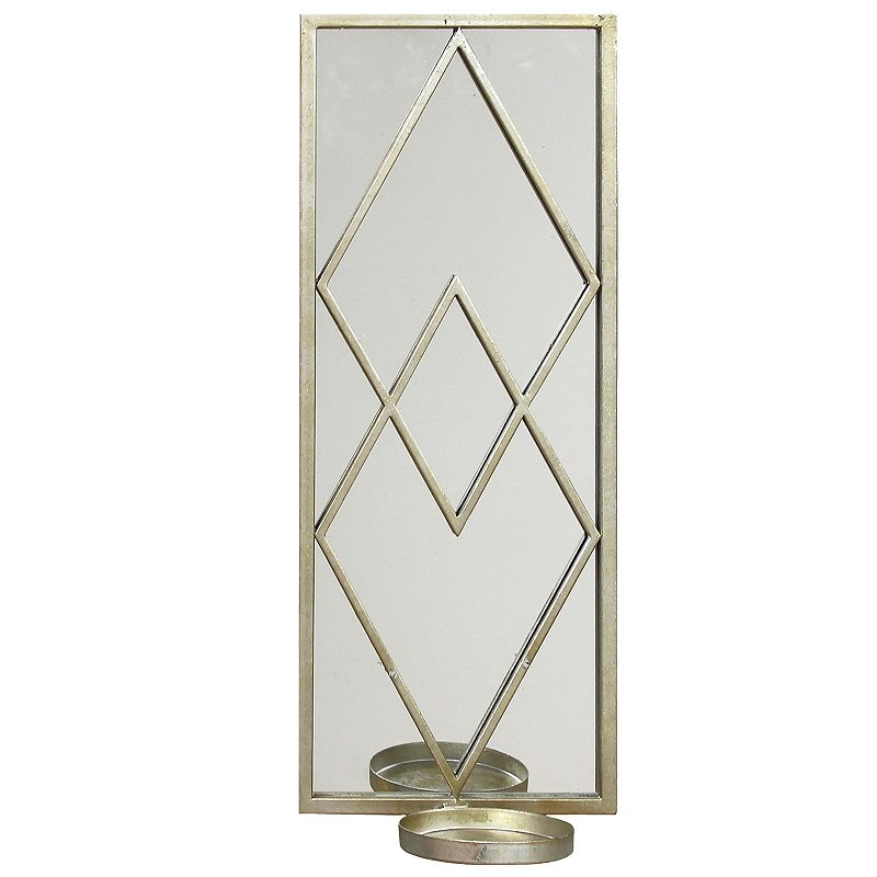 Stratton Home Decor Diamond Mirror Wall Sconce Set