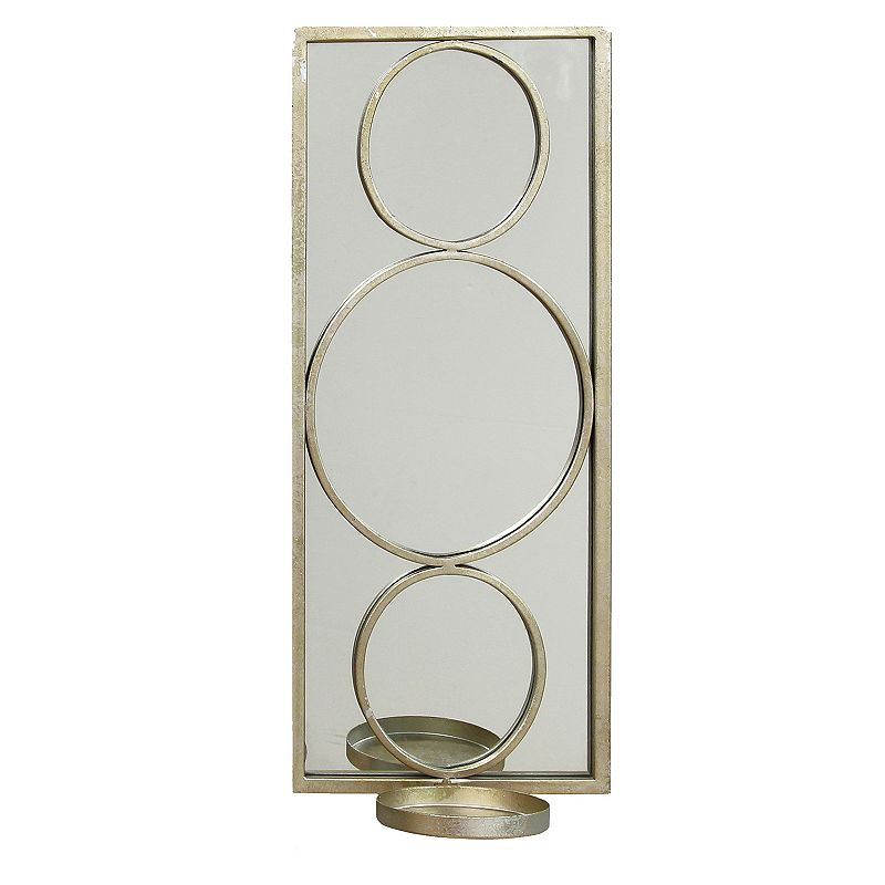 Stratton Home Decor Circle Mirror Wall Sconce