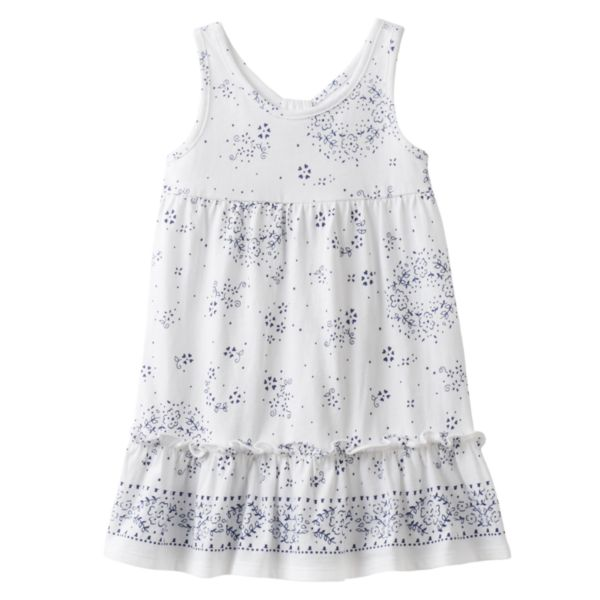 Toddler Girl Chaps Swirly Flower Print Dress