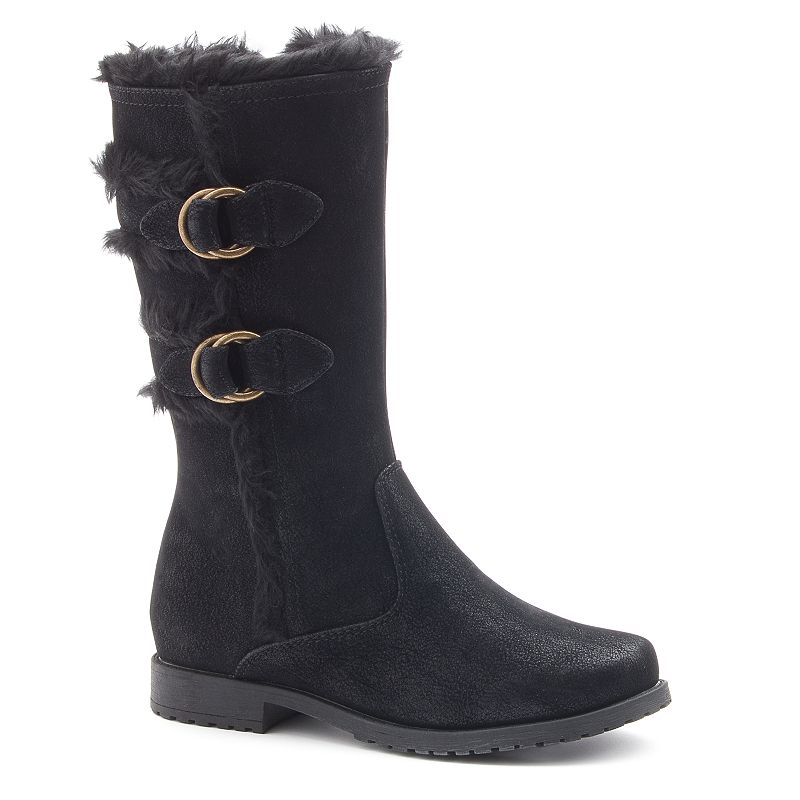 Rachel Shoes Sahara Girls' Fleece-Lined Riding Boots