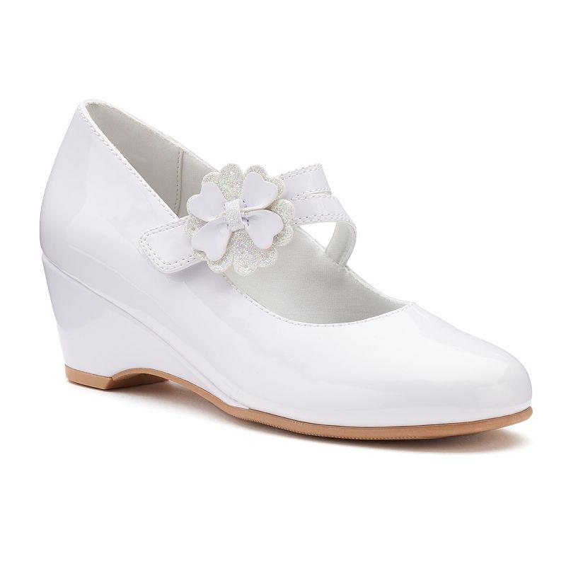 Rachel Shoes Ellie Girls' Wedge Dress Shoes