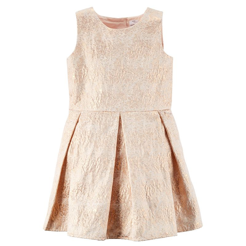 Toddler Girl Carter's Floral Jacquard Dress