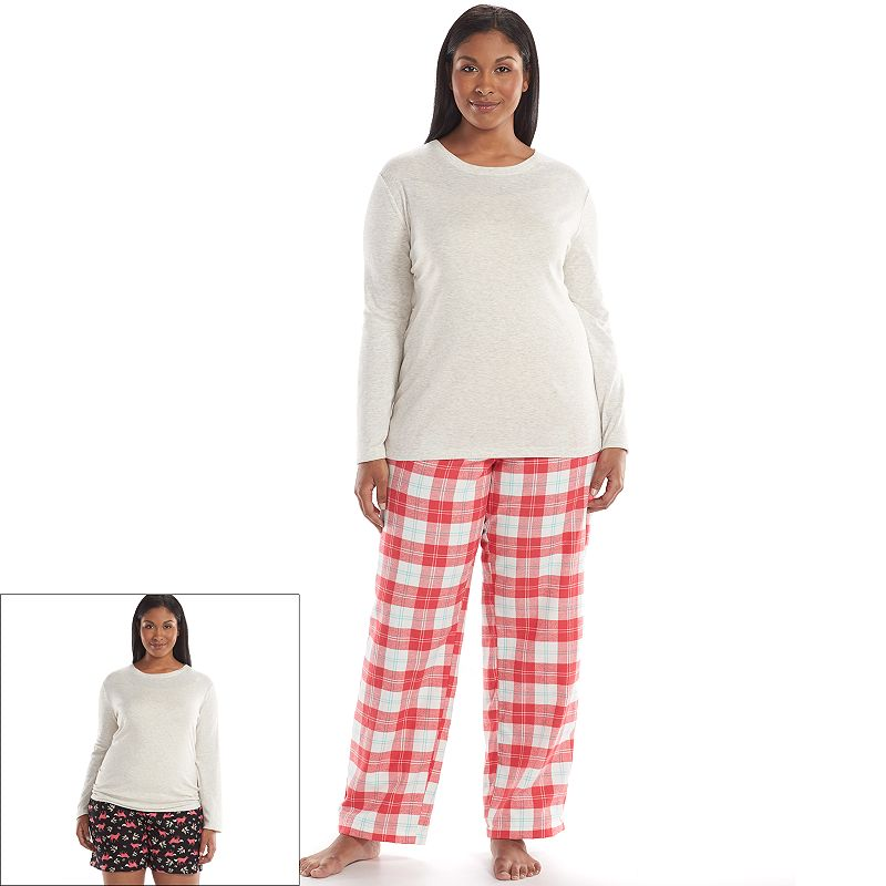 Plus Size SONOMA Goods for Life™ Pajamas: Plaid 3-pc. Pajama Gift Set