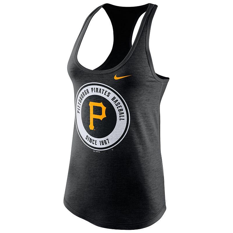 Nike Pittsburgh Pirates Large Logo Tri-Blend Tank - Women's