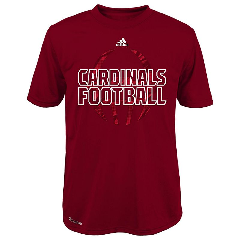 Boys 8-20 adidas Louisville Cardinals Sideline Helmet Shock Energy Tee