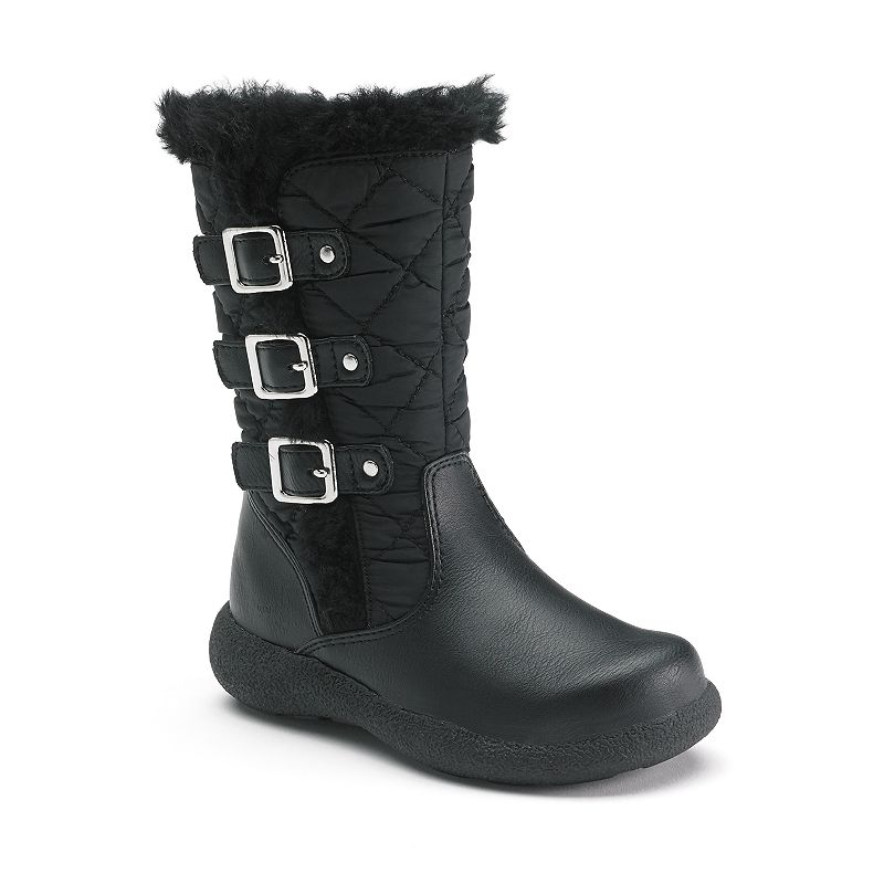 Rachel Shoes Girls' Faux-Fur Lined Quilted Boots