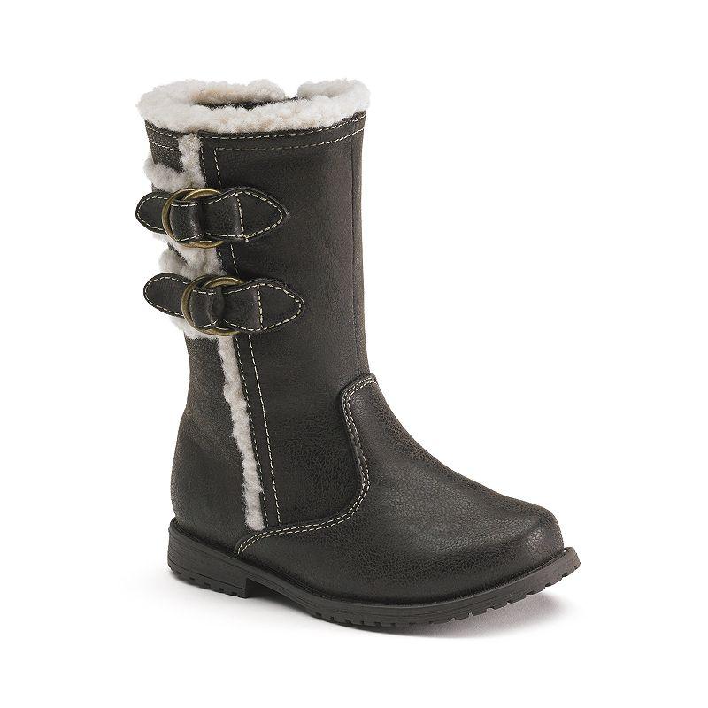 Rachel Shoes Lil Sahara Girls' Faux-Fur Lined Riding Boots