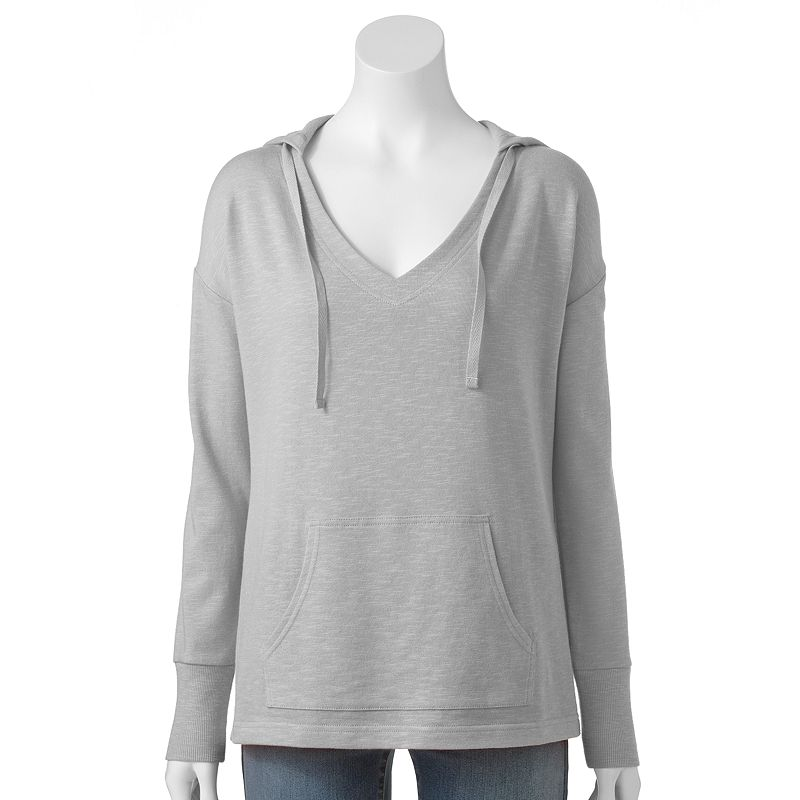 Women's SONOMA Goods for Life™ Slubbed French Terry V-Neck Hoodie