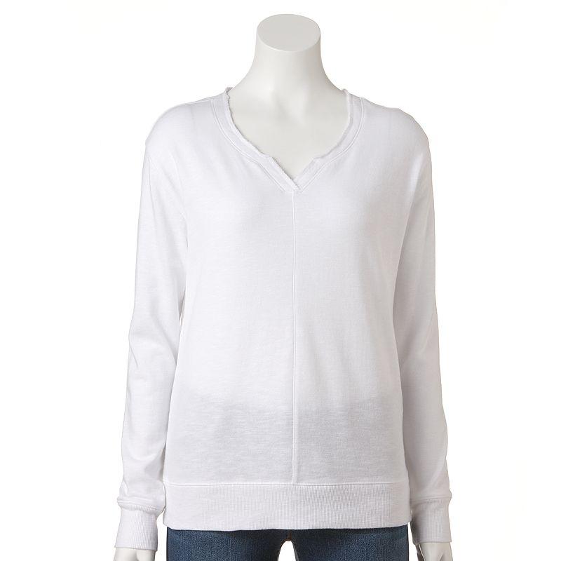 Women's SONOMA Goods for Life™ Slubbed French Terry Sweatshirt