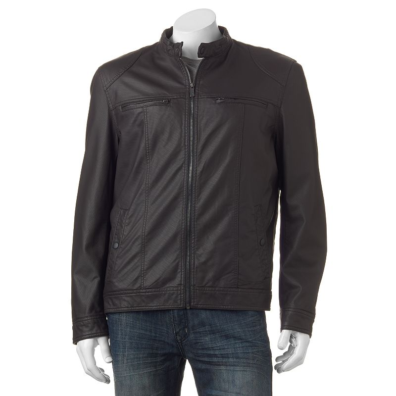 Big & Tall Apt. 9® Textured Faux-Leather Bomber Jacket