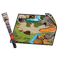 Neat-Oh! Dinosaur Prehistoric World 2-Sided Playmat & Dinosaurs Set