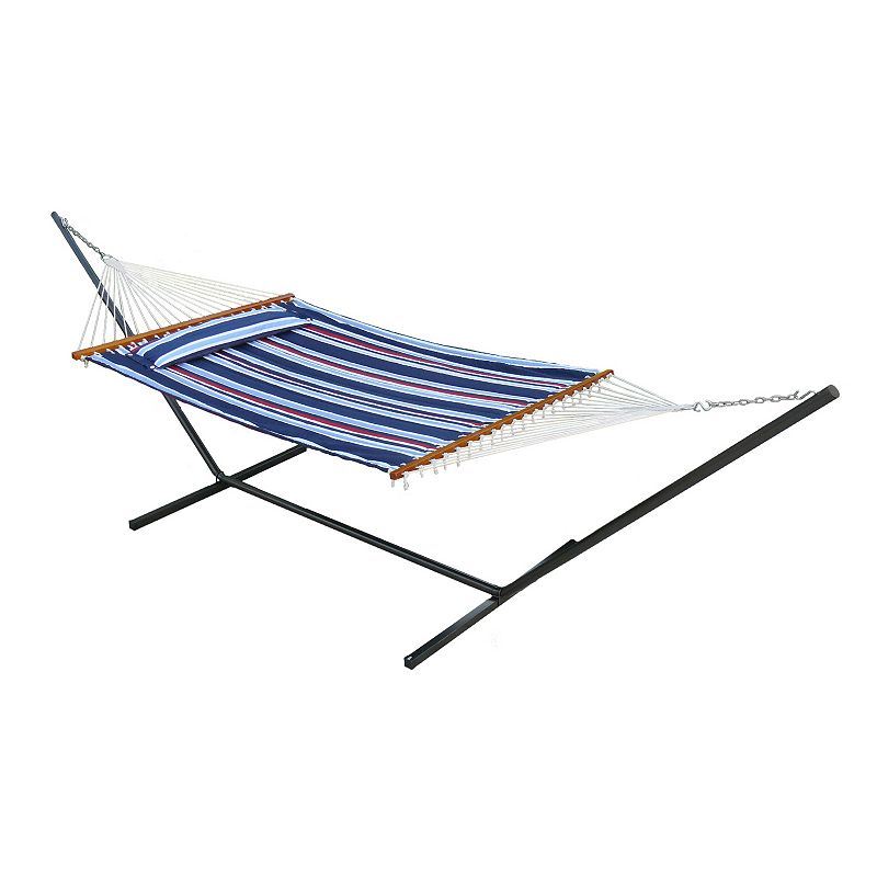 Smart Garden Santorini Double Wide Quilted Reversible Hammock