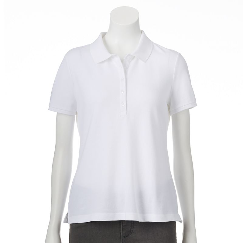 Petite Croft & Barrow® Essential Pique Polo