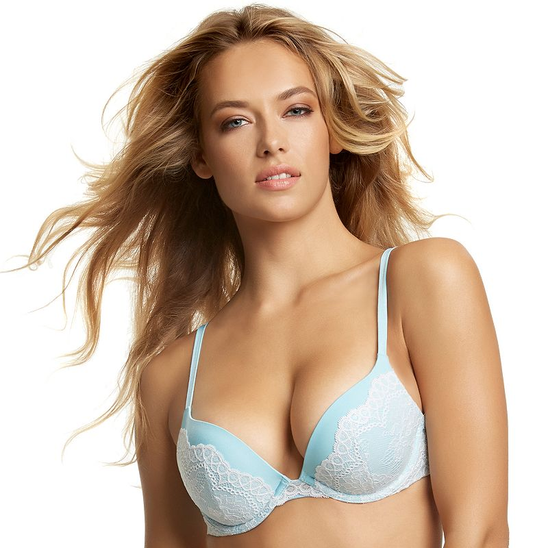 Jezebel Bra: Rumour Lace Plunge Push-Up Bra 159998 - Women's