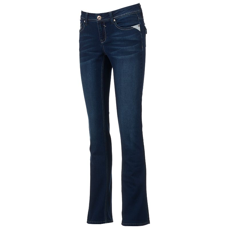 Hydraulic Lola Juniors' Slim Bootcut Jeans, Size: Medium (Blue)
