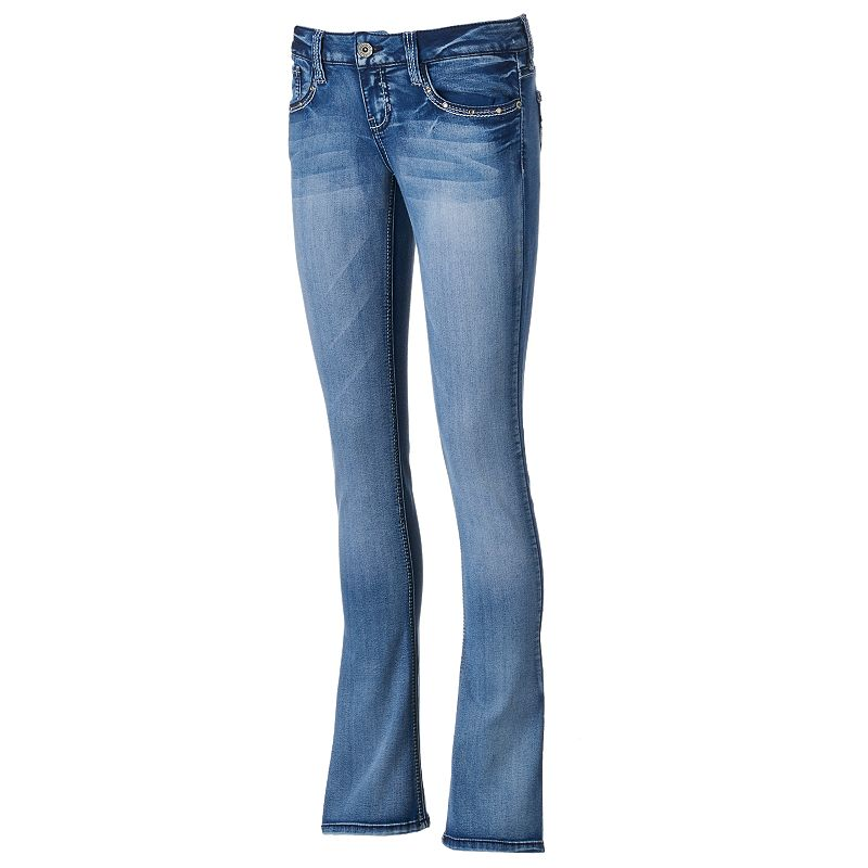 Hydraulic Bailey Juniors' Baby Bootcut Jeans, Size: 3 (Blue)