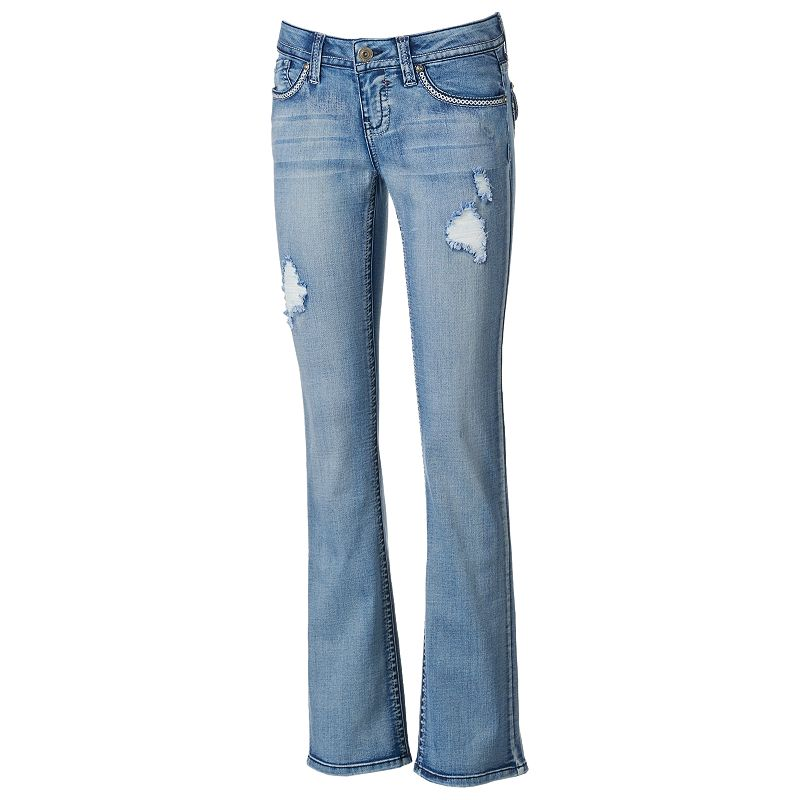 Hydraulic Lola Juniors' Slim Bootcut Jeans (Blue)