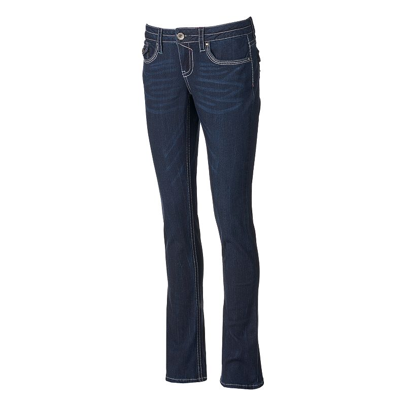 Hydraulic Lola Microboot Juniors' Jeans, Size: 33 (Blue)