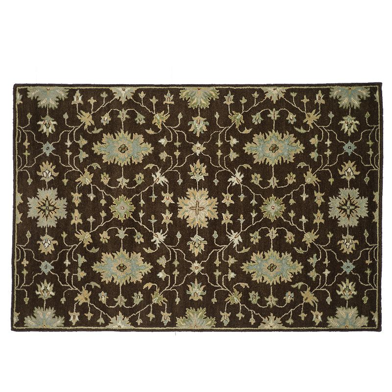 Loloi Fairfield Floral Lattice Wool Rug