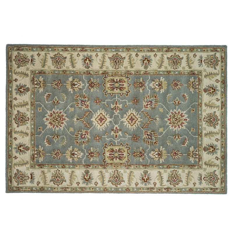Loloi Fairfield Floral Framed Wool Rug