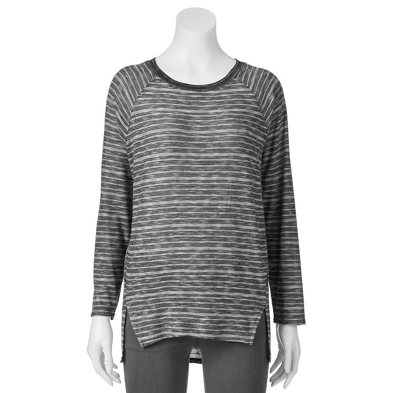 Juniors' SO® Striped Sweater-Knit Tunic Top