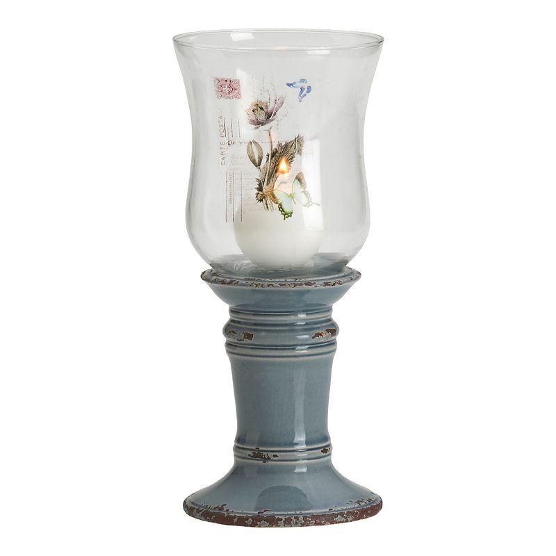 Elements Floral Hurricane Candle Holder