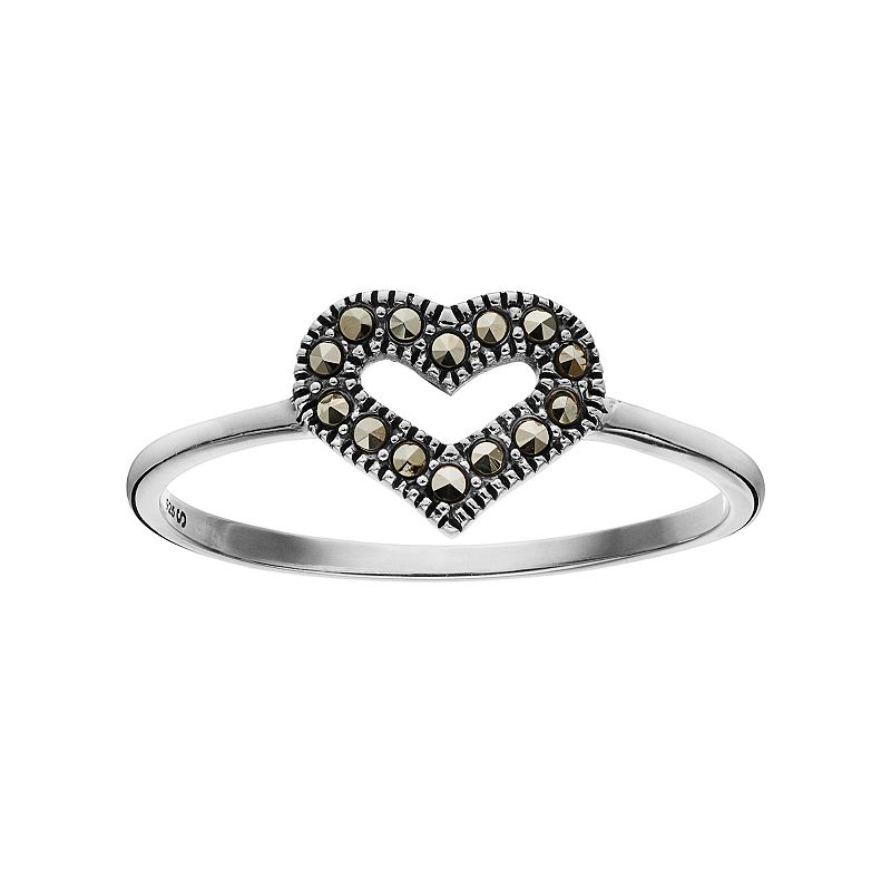 Marcasite Sterling Silver Heart Ring