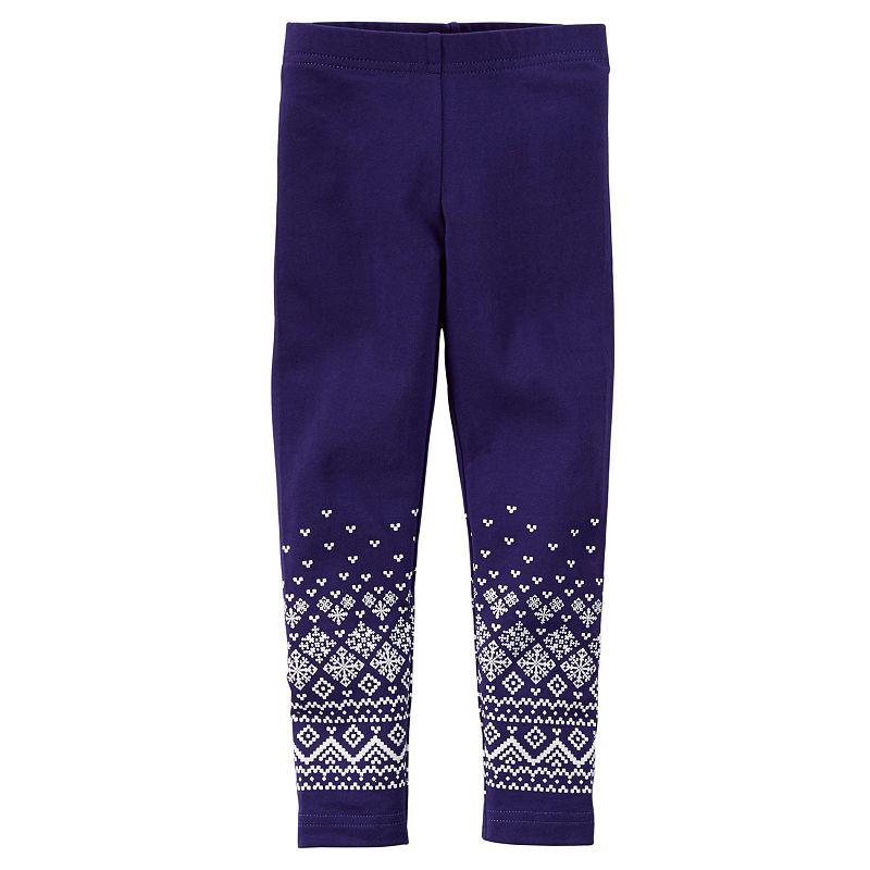 Girls 4-8 Carter's Purple Fairisle Leggings