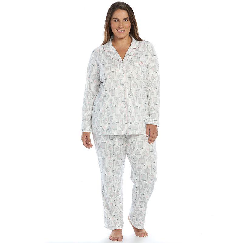 Plus Size Croft & Barrow® Pajamas: Knit Notch-Collar Pajama Set