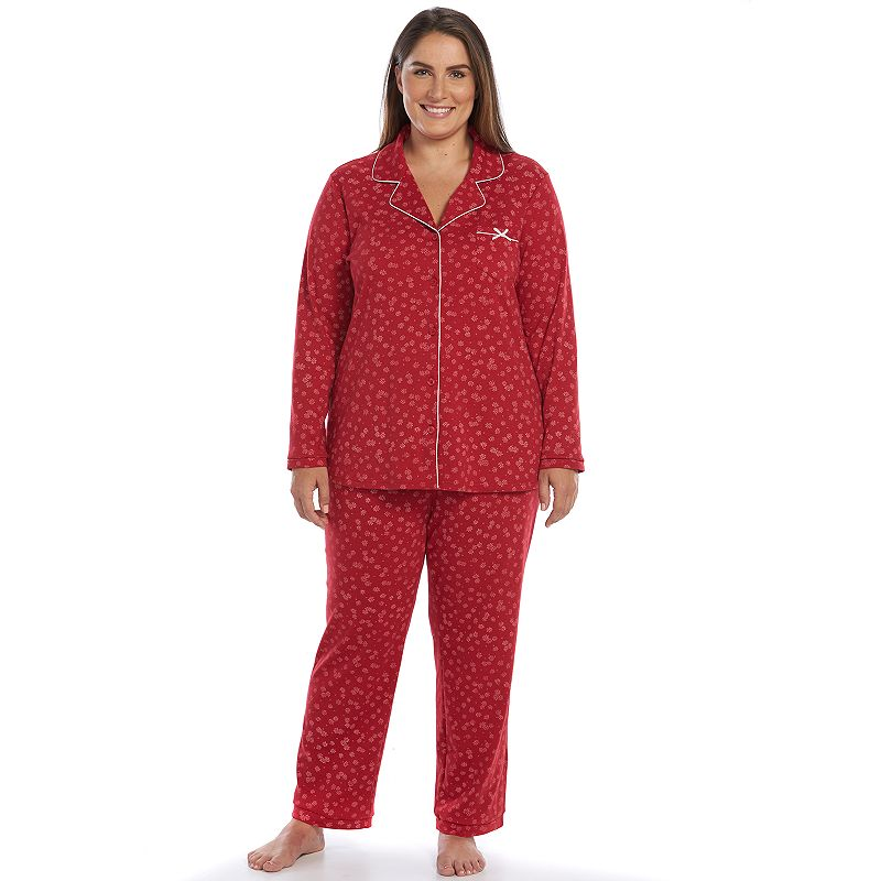 Plus Size Croft & Barrow® Pajamas: Knit Notch-Collar Pajama Set