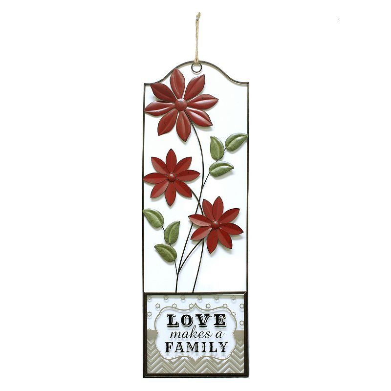 Fetco Home Decor Brinley Wall Art ~ Fetco home decor quot love makes a family floral panel wall