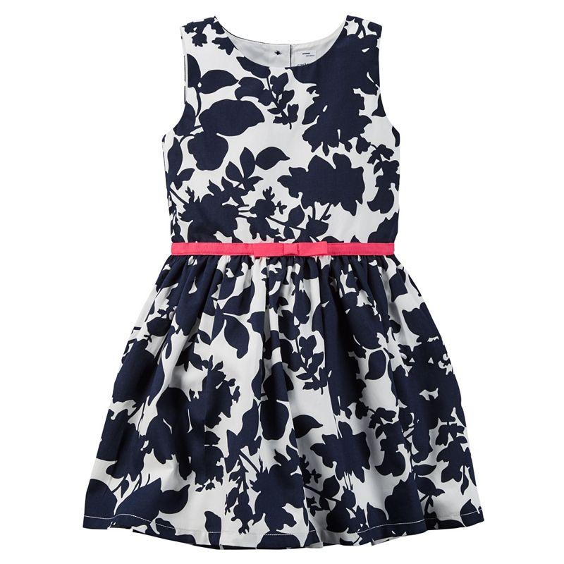 Girls 4-8 Carter's Navy Floral Dress