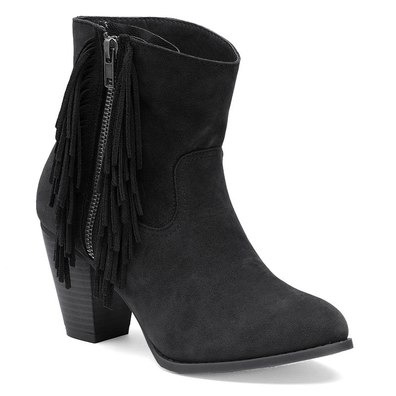 sugar Tuko Women's Fringe Ankle Boots