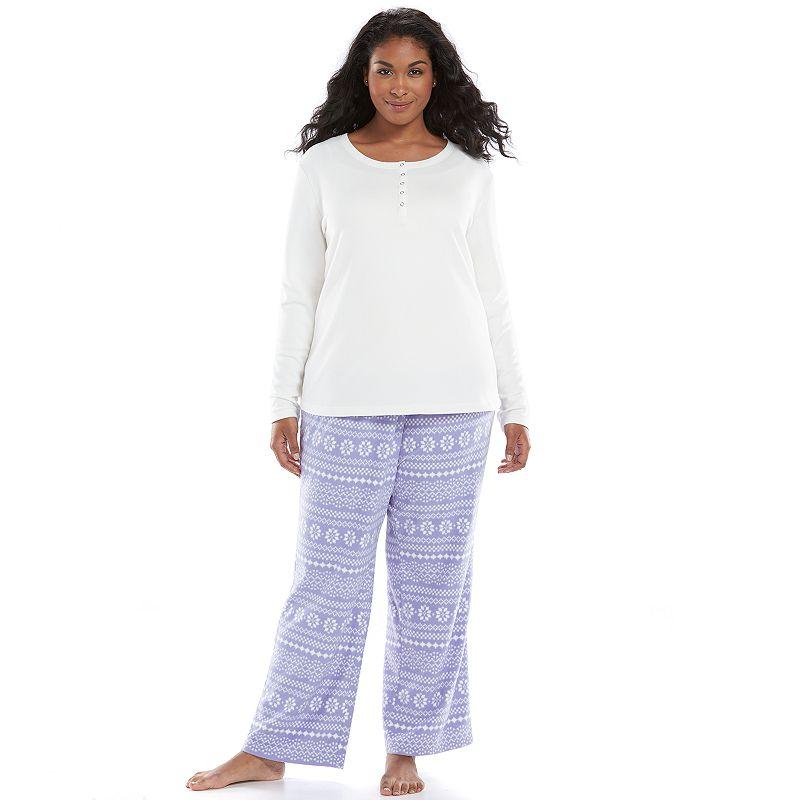 Plus Size SONOMA Goods for Life™ Pajamas: Microfleece Pajama Gift Set