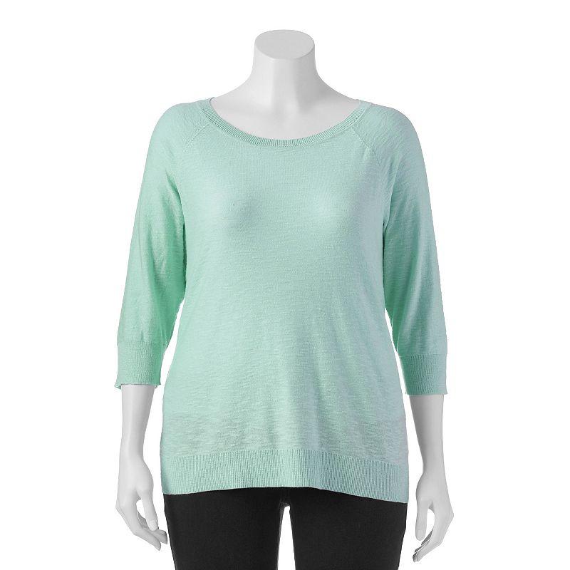 Plus Size SONOMA Goods for Life™ Slubbed Sweater