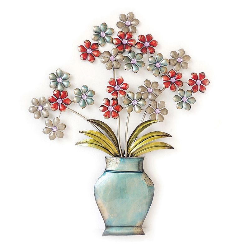 Flower Bunches In A Vase Wall Decor