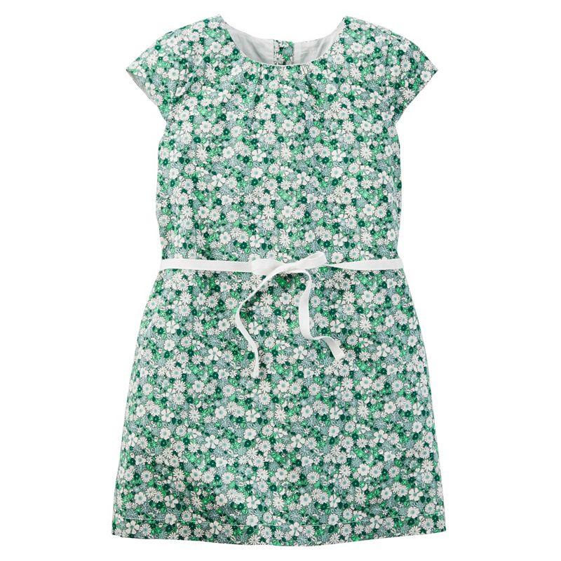 Girls 4-8 Carter's Cap-Sleeve Floral Dress