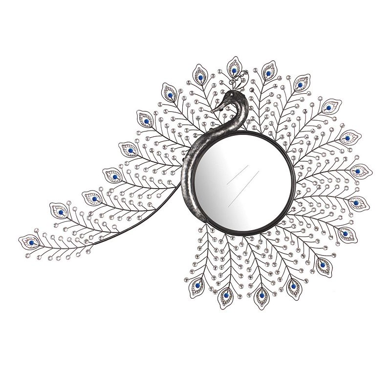 Jeweled Peacock Wall Mirror