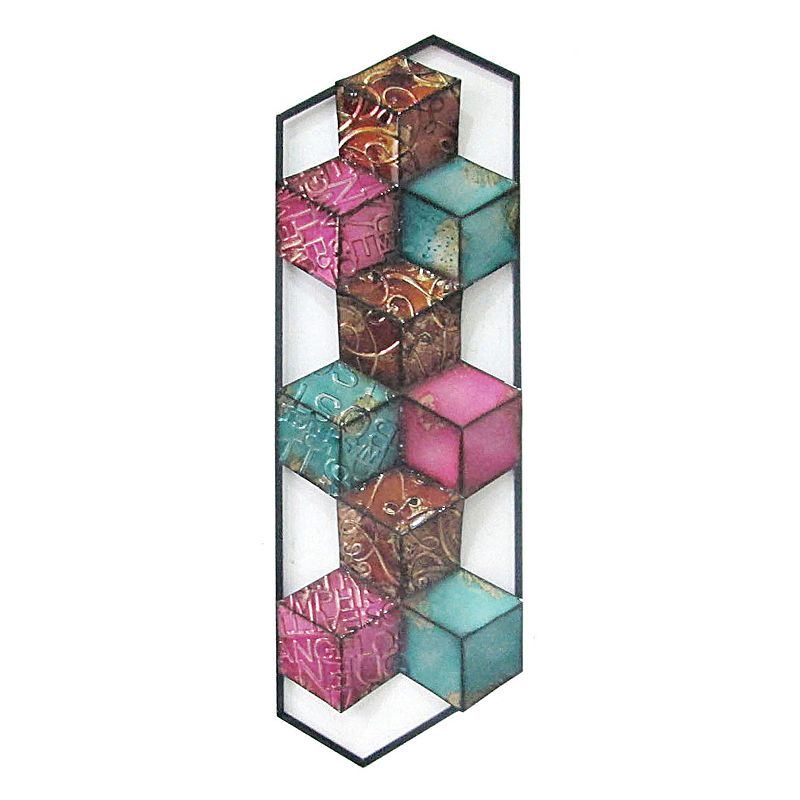 Colorful Multi Cubes II Wall Decor