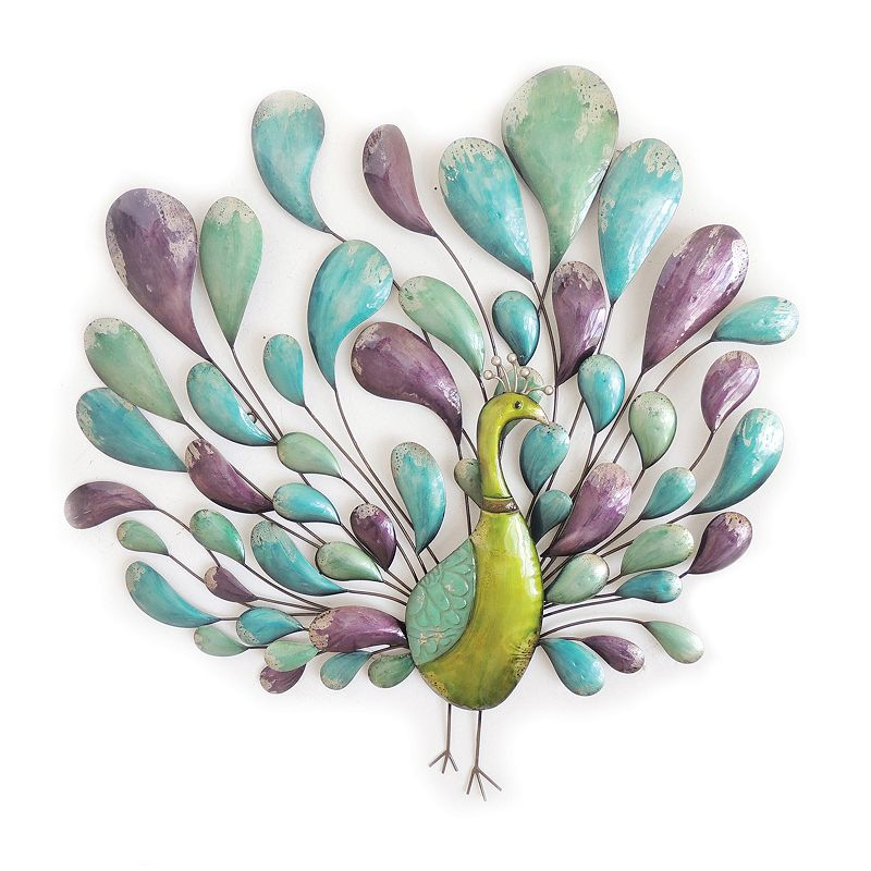 Colorful Peacock Wall Decor