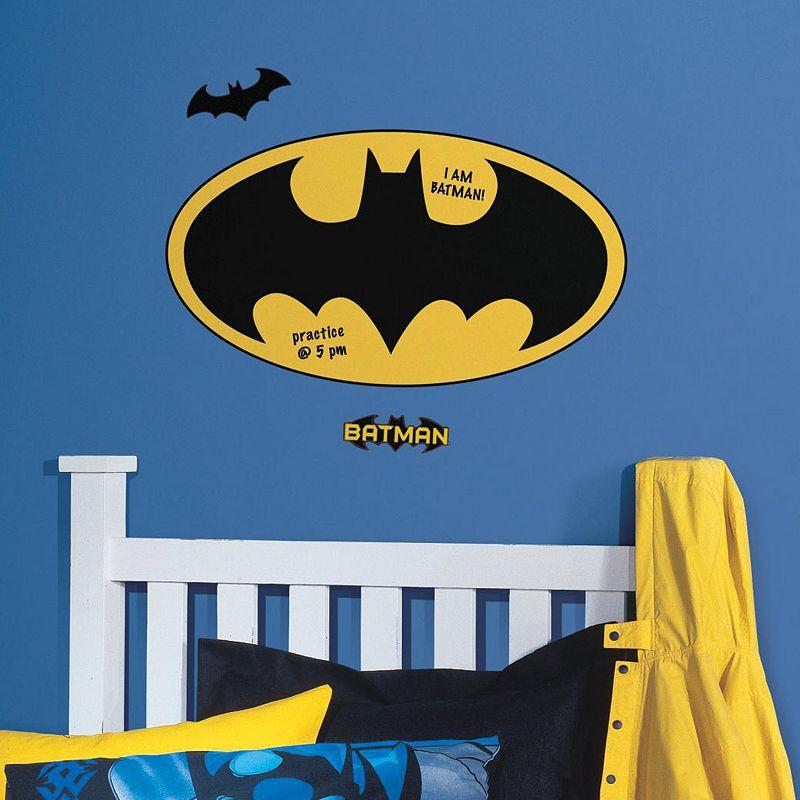 Batman Logo Dry Erase Peel & Stick Giant Wall Decals