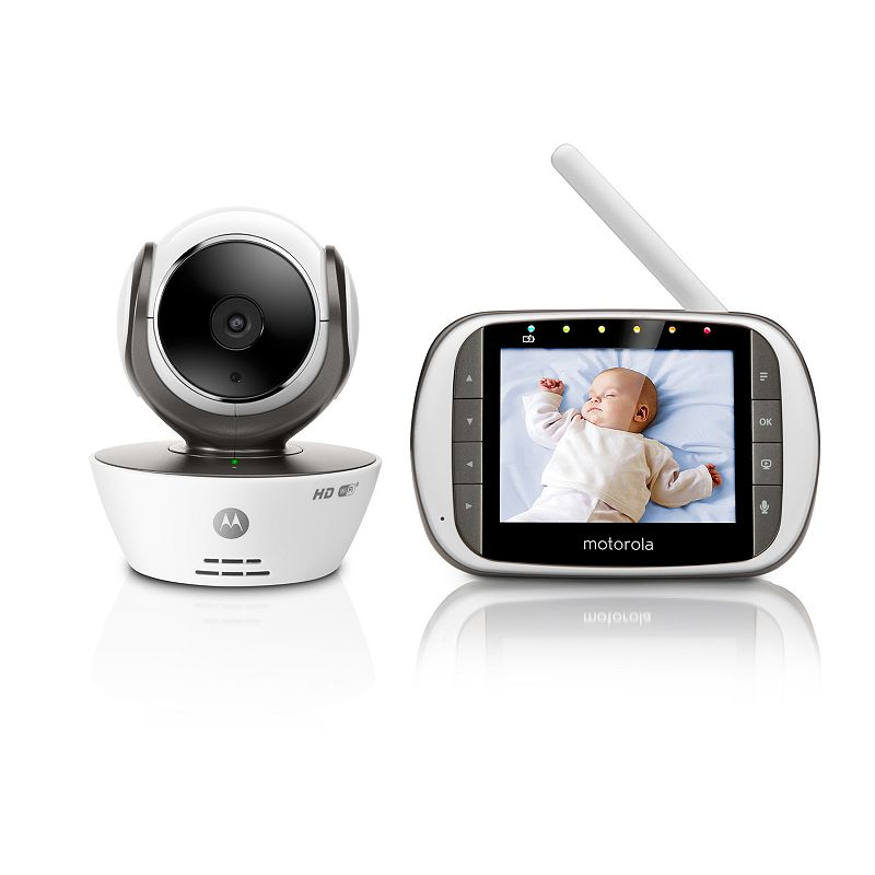 motorola mbp853 connect hd wi fi video baby monitor white. Black Bedroom Furniture Sets. Home Design Ideas