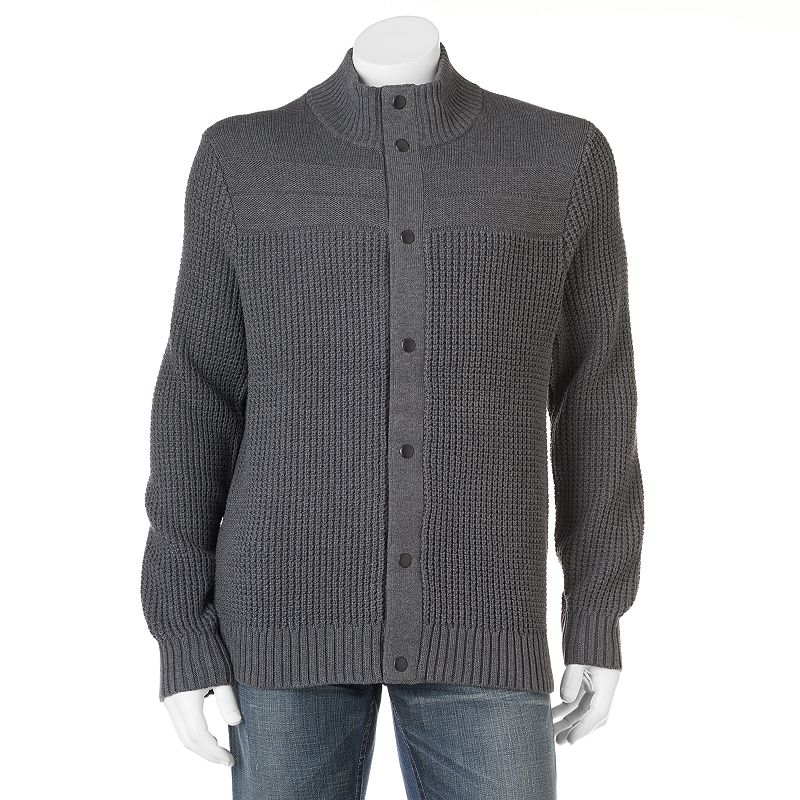 Men's Apt. 9® Modern-Fit Textured Snap-Front Cardigan