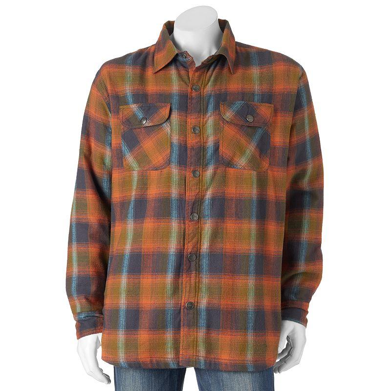 Men's Pacific Trail Plaid Flannel Shirt Jacket