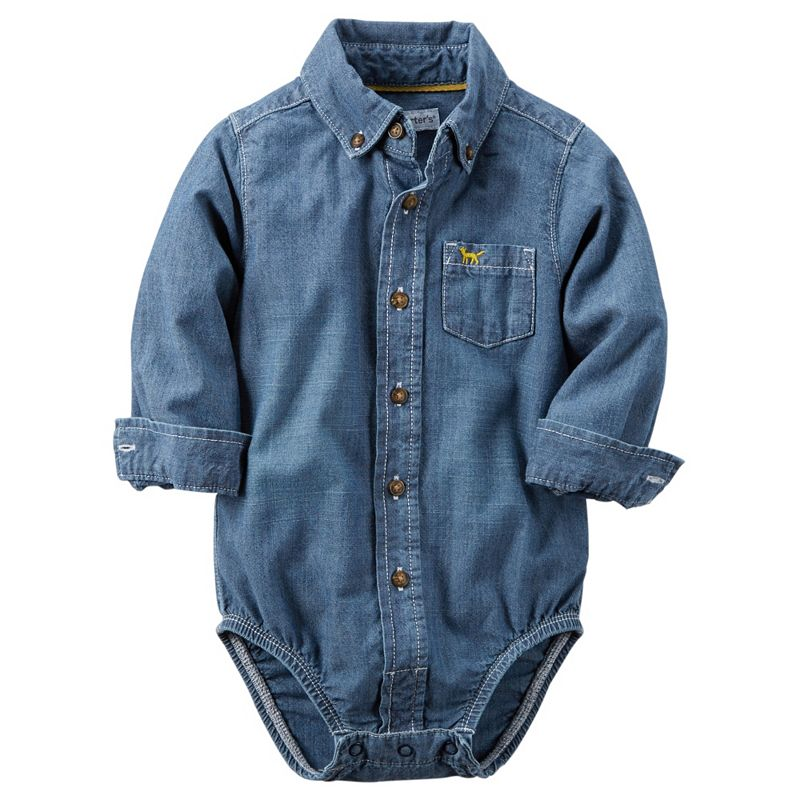 Baby Boy Carter's Chambray Button-Down Bodysuit